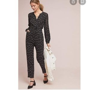 NWOT Greylin Anthropologie XS Leigh jumpsuit black